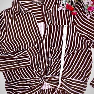🌺 KNOT TOP 🌺 Size L. NWOT. Long-sleeve, dress-up